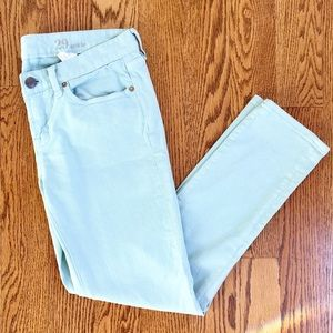 Mint J. Crew Toothpick Ankle Pant. Size 29.